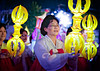 Buddha's Birthday, Seoul, 2011 : Breaking from traditions of holding the Lantern Festival on the Sunday evening prior to Buddha's Birthday, this year the parade was held on Saturday, May 7th.  As usual, it started at Dongdae-mun (East Gate) and progressed along Jongro boulevard about two miles to Jong-gak (Bell Tower), turning right on the boulevard leading to Jogye-sa, the temple headquarters of Korea's largest Buddhist sect, Jogye-gyo.